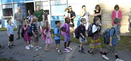 First Day in school for kids