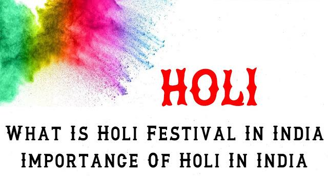 Importance of holi