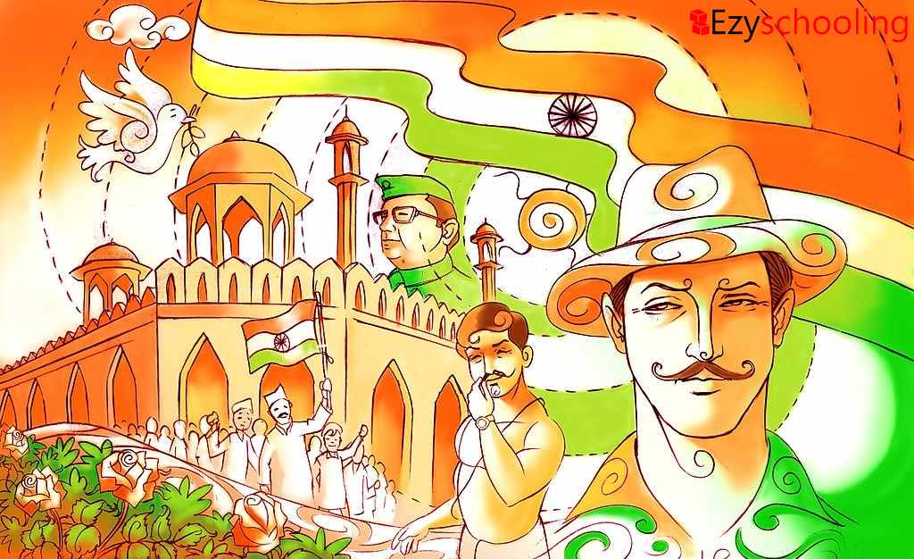 Independence Day and Indian freedom fighter
