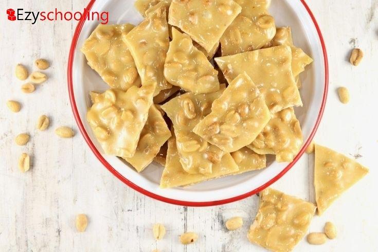 White-choco peanut brittle