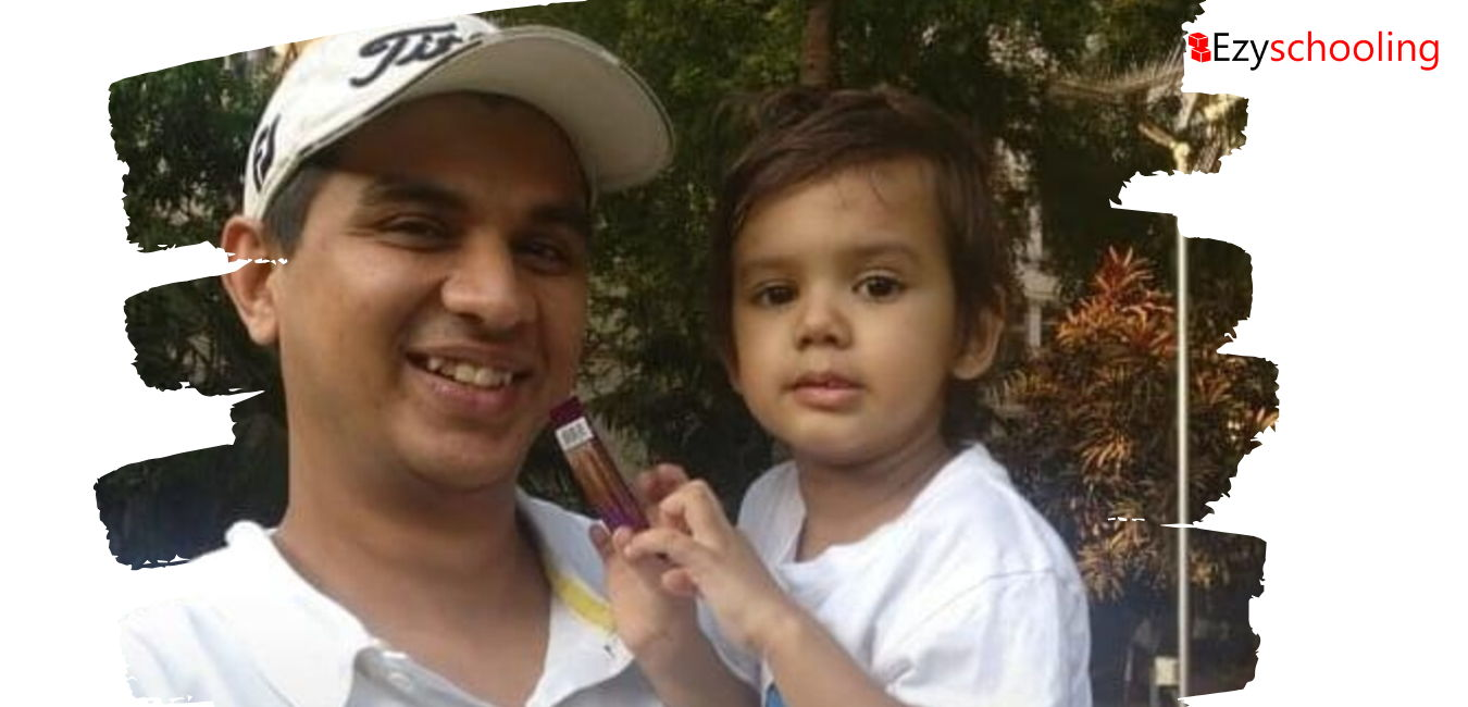 Tejas Buch with his kid