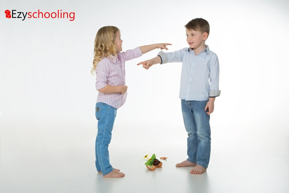 Kids blaming others for their mistakes