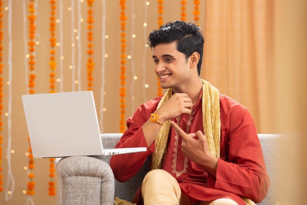 Celebrating Rakhi virtually