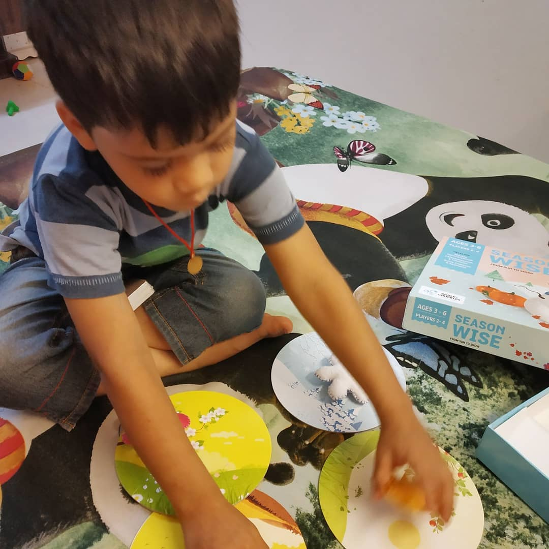 Neetal Jain's son engaging in unconventional learning