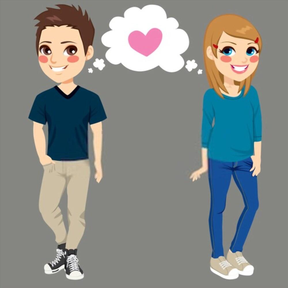 Teenage dating boy and girl