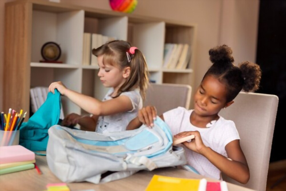 Kids packing their own bags