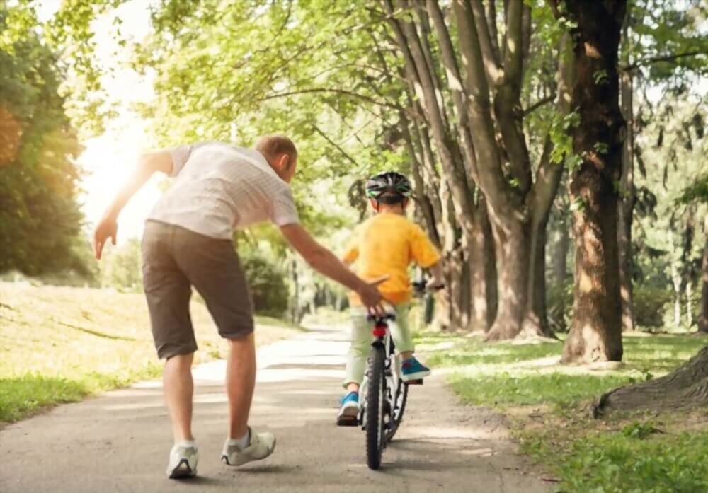 Bike rides and free play for kids