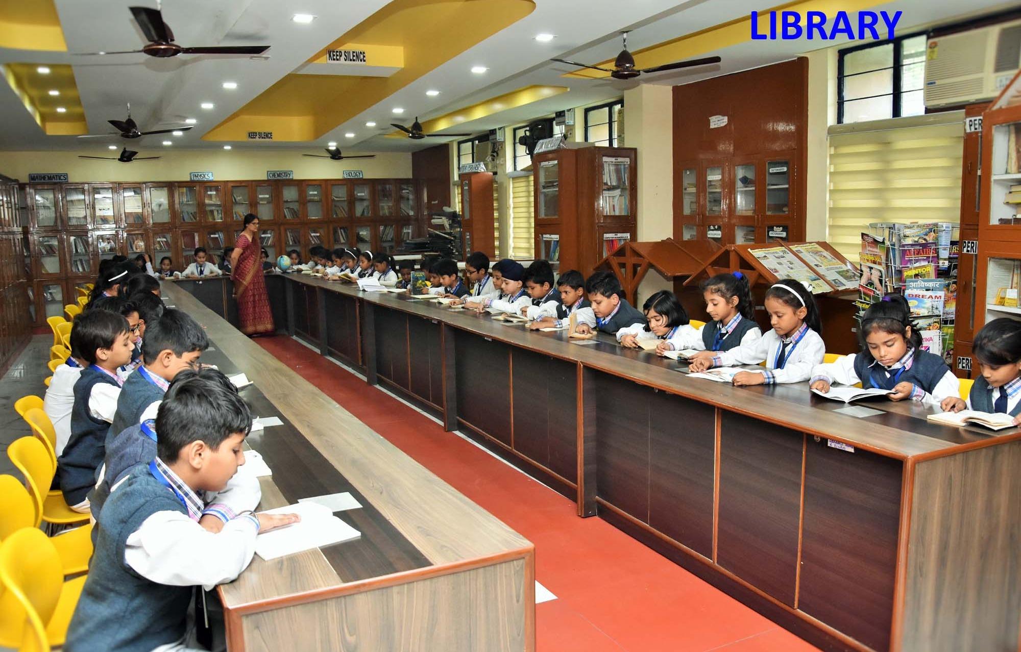 mayur public school library