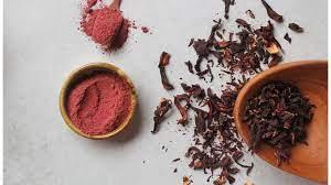 Red hibiscus powder