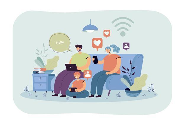 Family on social media