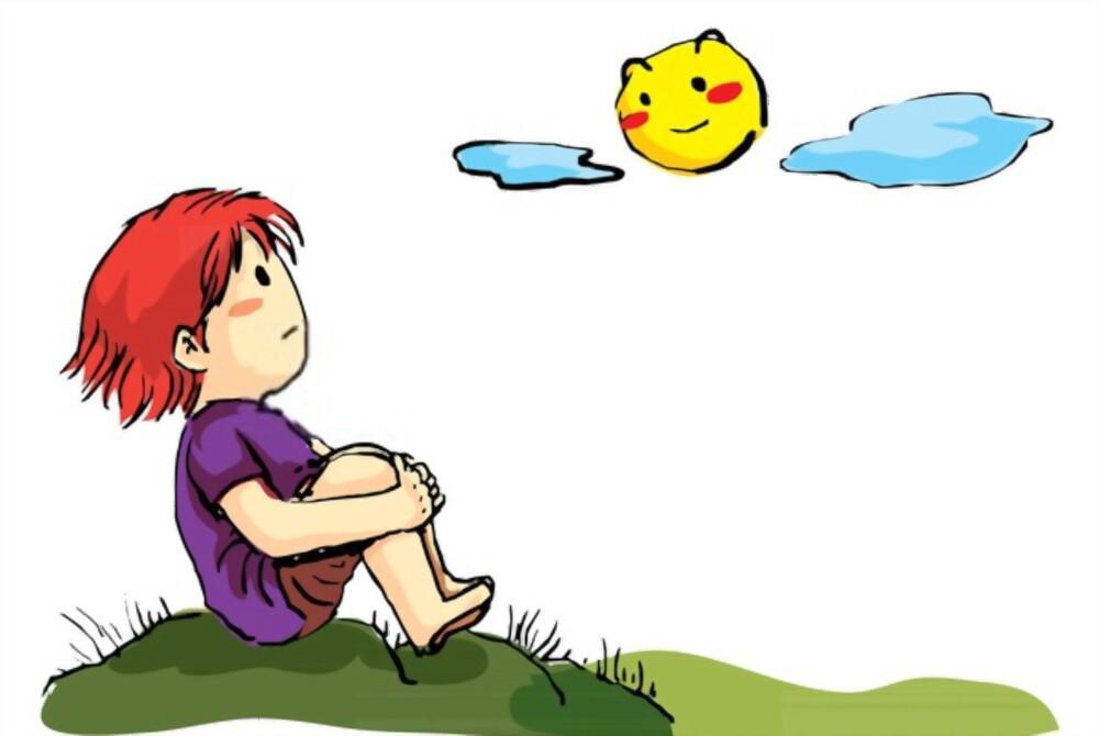 Kid looking at sky